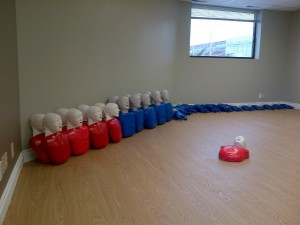 Training room and mannequins